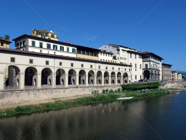 Флоренция коридор здании реке архитектура Сток-фото © wjarek