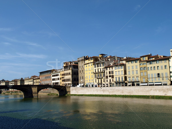 Florence - buildings along the Arno River Stock photo © wjarek