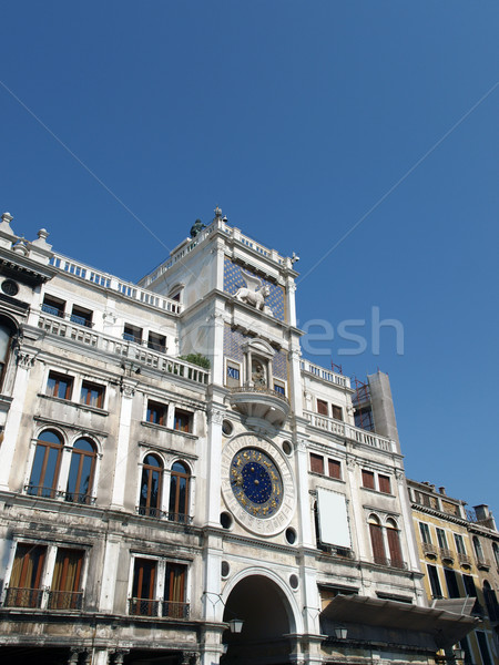 Venice, St Mark's clocktower Stock photo © wjarek