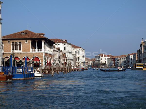 Венеция канал изысканный антикварная здании лодка Сток-фото © wjarek