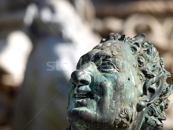 ストックフォト: 噴水 · フィレンツェ · イタリア · 水 · 馬 · 像