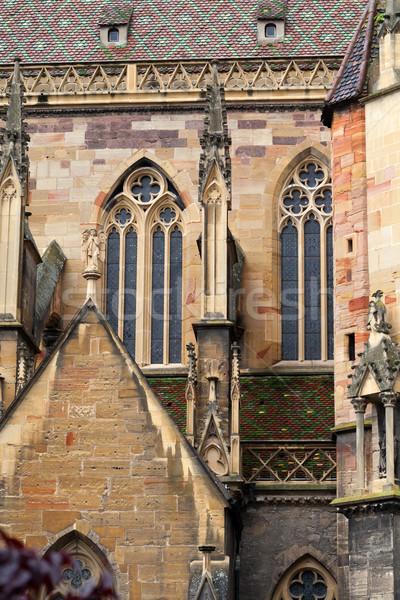 Cathedral of Saint Martin, Colmar, France Stock photo © wjarek