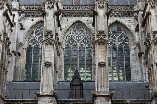 The side-wall of the cathedral  of Saint Gatien in Tours, Loire Valley  France Stock photo © wjarek