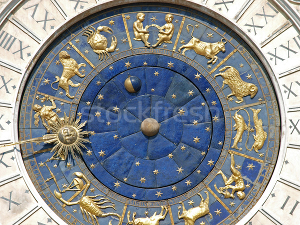 Venice, Torre dell'Orologio - St Mark's clocktower Stock photo © wjarek