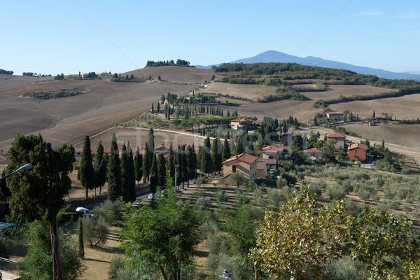The hills around Pienza and Monticchiello  Tuscany, Italy. Stock photo © wjarek