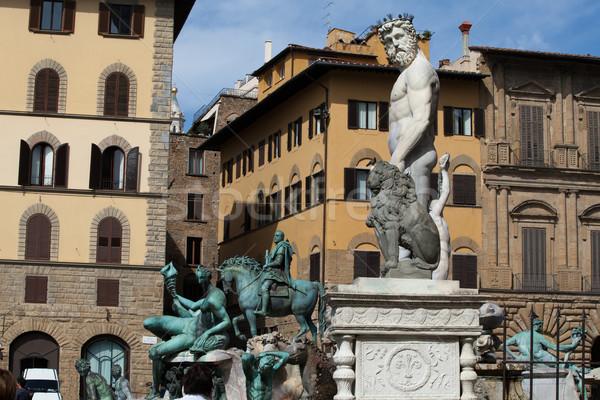 Florence, Piazza della Signoria Stock photo © wjarek