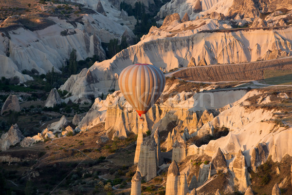 Cappadocia, Turkey.The greatest tourist attraction of Cappadocia , the flight with the balloon at su Stock photo © wjarek