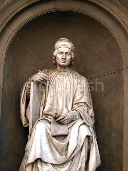 статуя Флоренция известный архитектора итальянский скульптор Сток-фото © wjarek