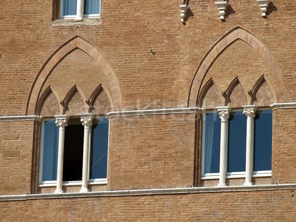 Beautiful Gothic windows in Italy Stock photo © wjarek