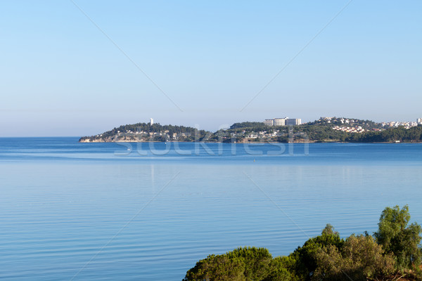 Aegean coast - Recreaiton area and beach Stock photo © wjarek
