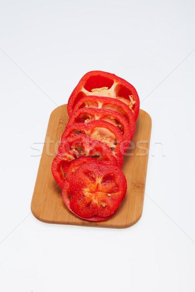 赤 唐辛子 孤立した 白 食品 ストックフォト © wjarek