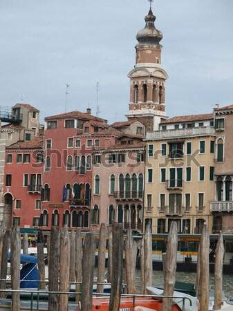 Venice - Exquisite antique buildings along Canal Grande Stock photo © wjarek