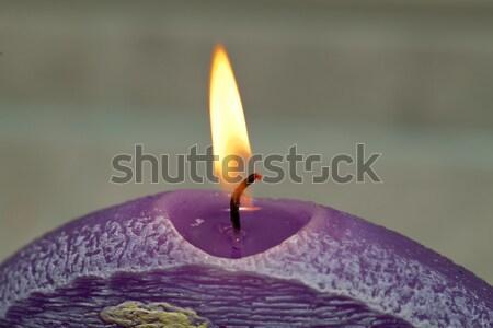 Vela lavanda flores aromaterapia flor natureza Foto stock © wjarek