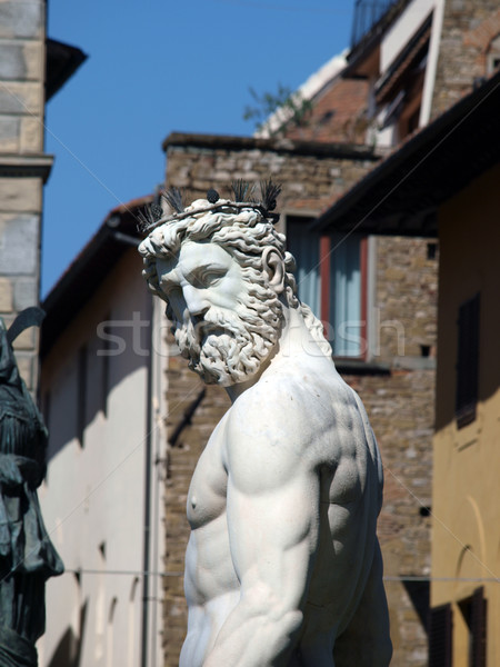 Florence - Statue of Neptune Stock photo © wjarek