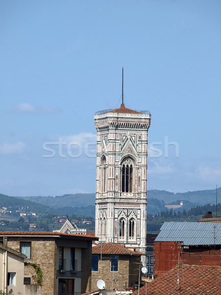Stock photo: Florence - the Dignified  Campanila above roofs of the city