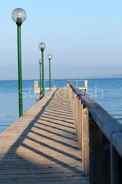 Fából készült vágány kilátás Ázsia Európa tengerpart Stock fotó © wjarek