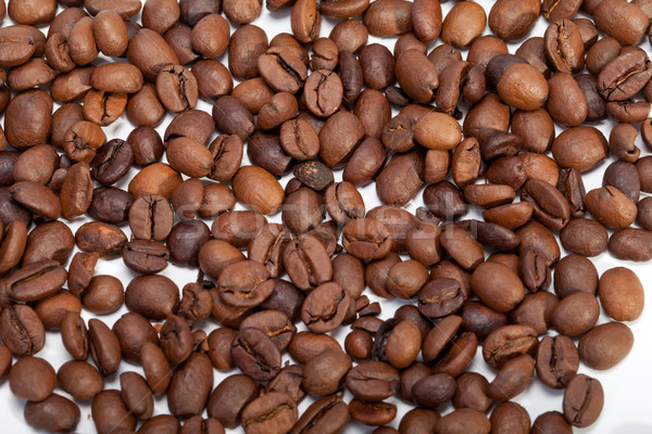 coffee beans close up isolated on white Stock photo © wjarek