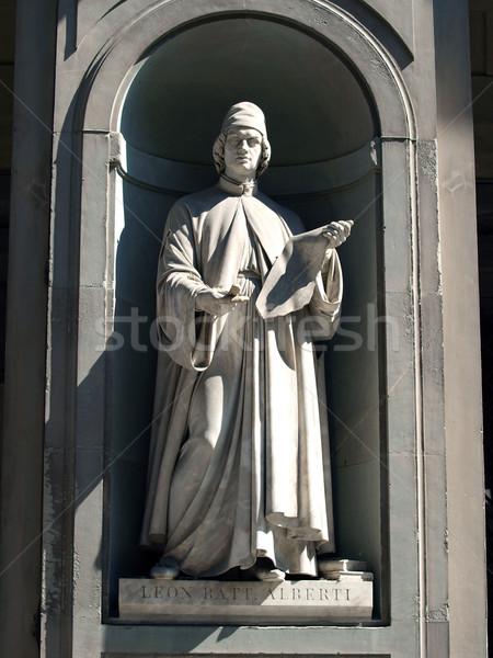 Florence galerij bouwkundig eerste half Stockfoto © wjarek