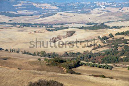 Stock photo: The hills around Pienza and Monticchiello  just after sunrise.