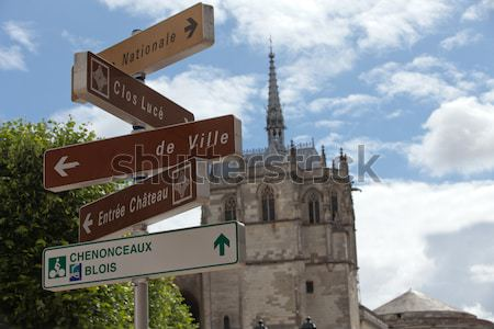 Chapel St. Hubert where Leonardo Da Vinci is buried in Amboise, France.  Stock photo © wjarek