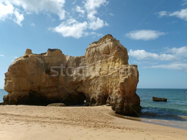 Cliffs at the Algarve coast in Portugal Stock photo © wjarek
