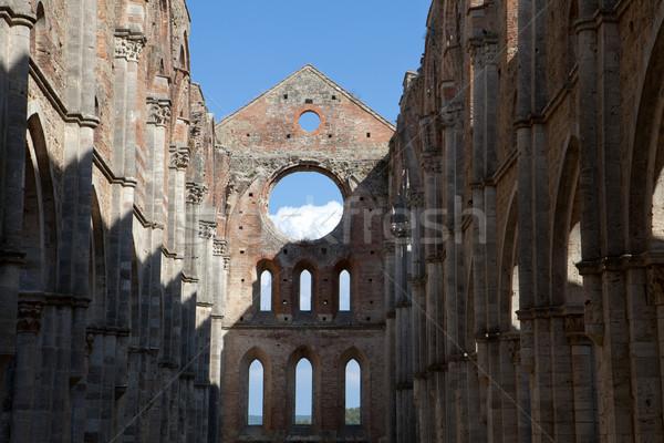 修道院 トスカーナ イタリア 建物 ウィンドウ 教会 ストックフォト © wjarek