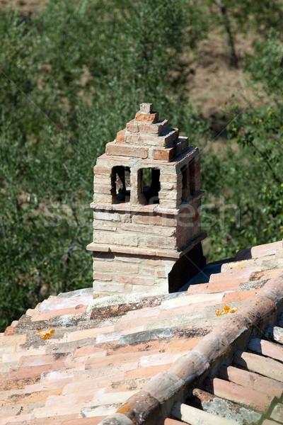 Sant Antimo Abbey near Montalcino in Tuscany, Italy Stock photo © wjarek