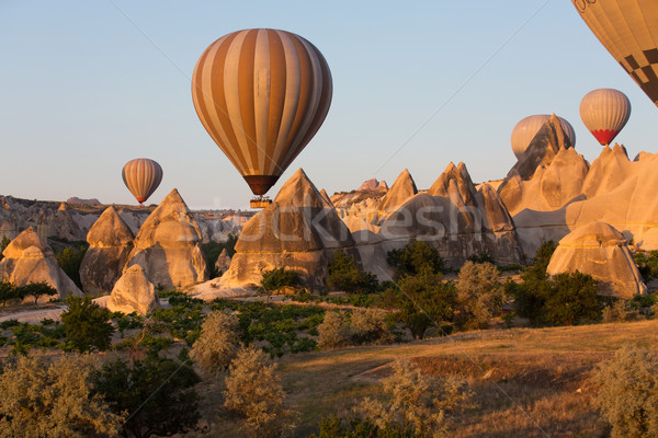Plus attraction touristique vol ballon sunrise amour Photo stock © wjarek