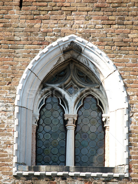 An old and ancient beautiful window - Italia Stock photo © wjarek
