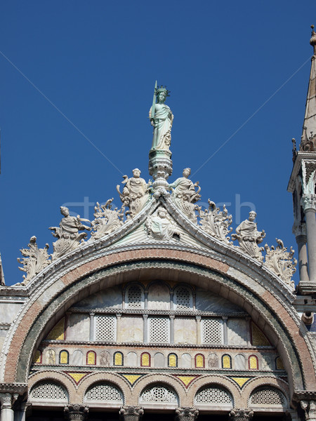 Venedik mimari ayrıntılar katedral çapraz Stok fotoğraf © wjarek