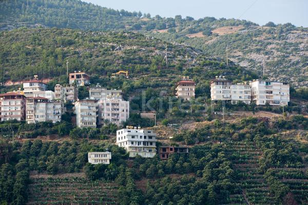 Stad Turkije natuur landschap home Stockfoto © wjarek