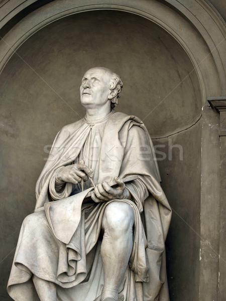 статуя известный архитектора Флоренция Сток-фото © wjarek