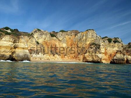 Alagarve coast between Lagos and the Cap Vincent Stock photo © wjarek
