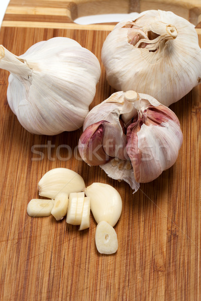 Garlic on the wooden table  Stock photo © wjarek