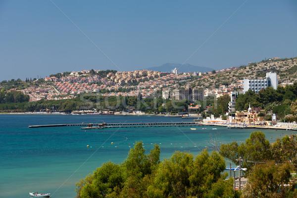 Aegean coast - Recreaiton area and beach Stock photo © wjarek
