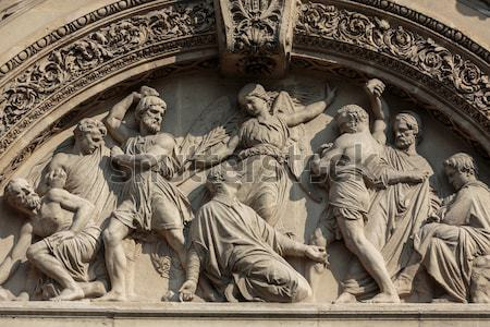 Amboise - Detail of Late Gothic carving on the Chapel of Saint-Hubert Stock photo © wjarek