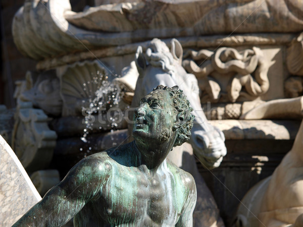 Fountain of Neptune in the Piazza della Signoria, Florence, Italy Stock photo © wjarek
