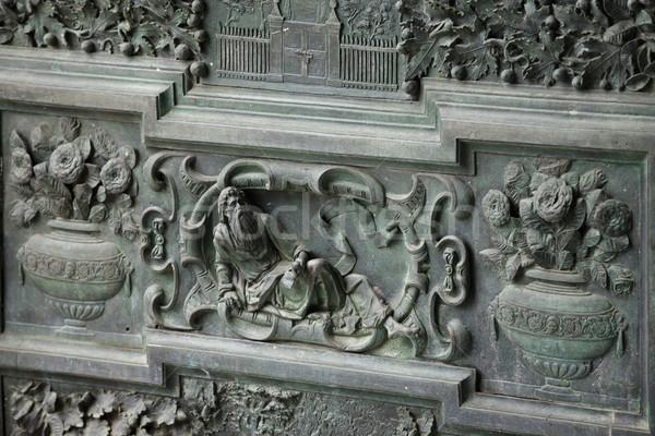 Decorato dettaglio porta cattedrale religione cancello Foto d'archivio © wjarek