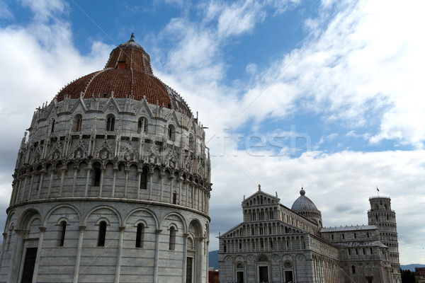 Pisa - Baptistry of St. John in the Piazza dei Miracoli Stock photo © wjarek