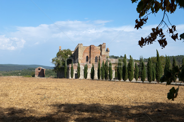 Abdij Toscane Italië gebouw venster kerk Stockfoto © wjarek