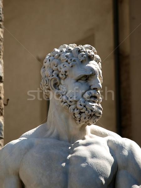 Florence sculptuur witte marmer entree Stockfoto © wjarek