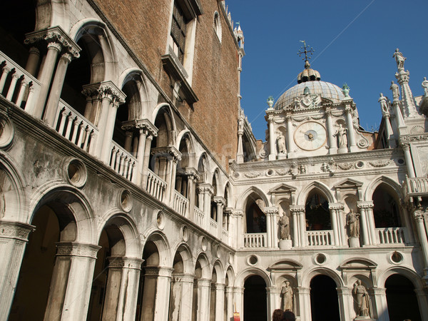Венеция дворец стены кирпичных статуя Готский Сток-фото © wjarek