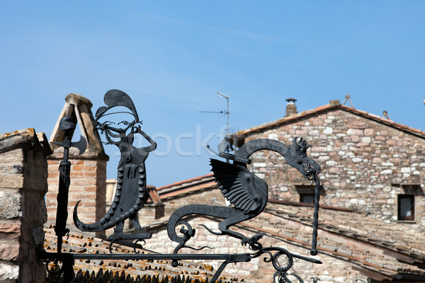 Hand made of iron Dragon Stock photo © wjarek