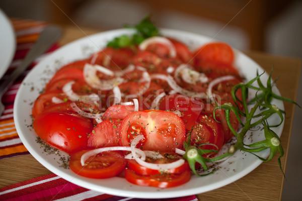Tomaten ui kruiden voedsel zomer Stockfoto © wjarek