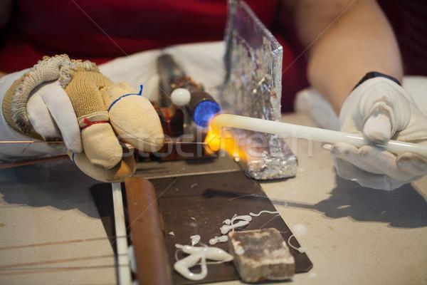 生産 フォーメーション ボール ガス 女性 手 ストックフォト © wjarek