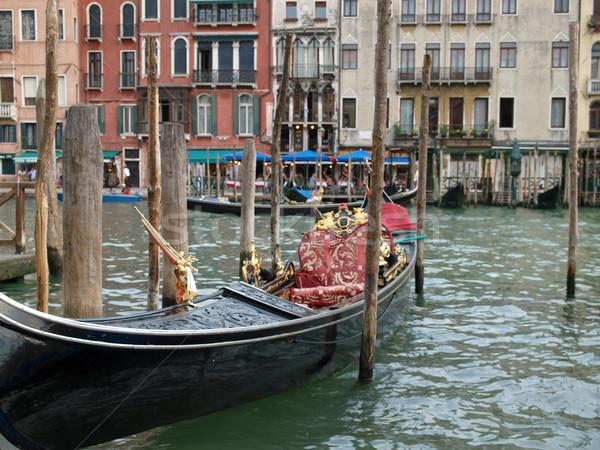 Venedik park köprü Bina seyahat tekne Stok fotoğraf © wjarek