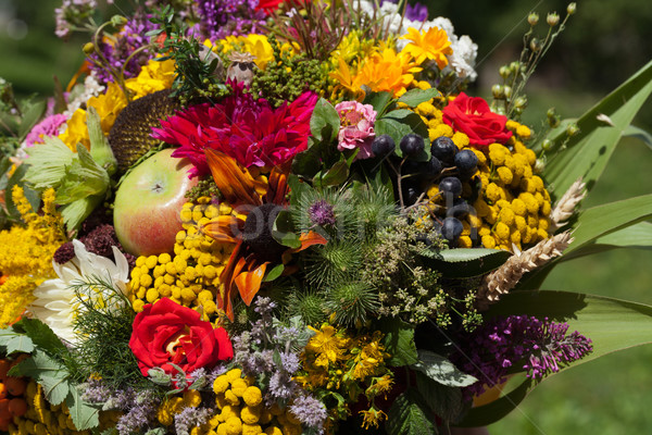 beautiful bouquets of flowers and herbs Stock photo © wjarek