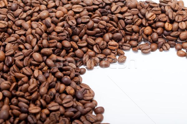 Chicchi di caffè isolato bianco alimentare natura Foto d'archivio © wjarek
