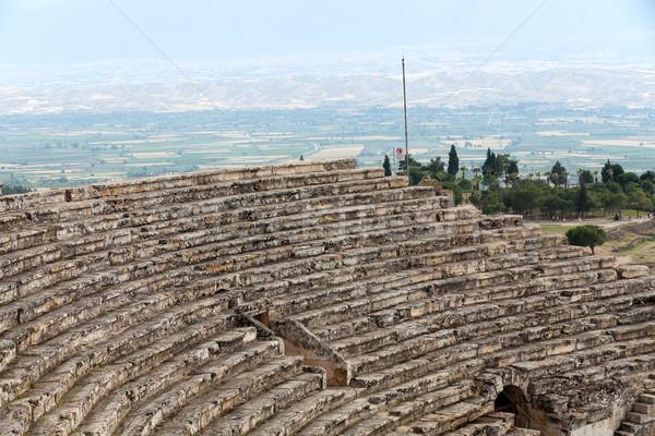Theater ruines Turkije voorjaar stad spa Stockfoto © wjarek