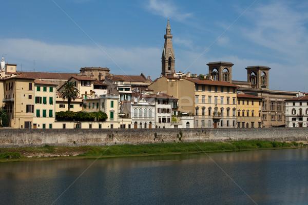 Florence - buildings along the Arno River Stock photo © wjarek